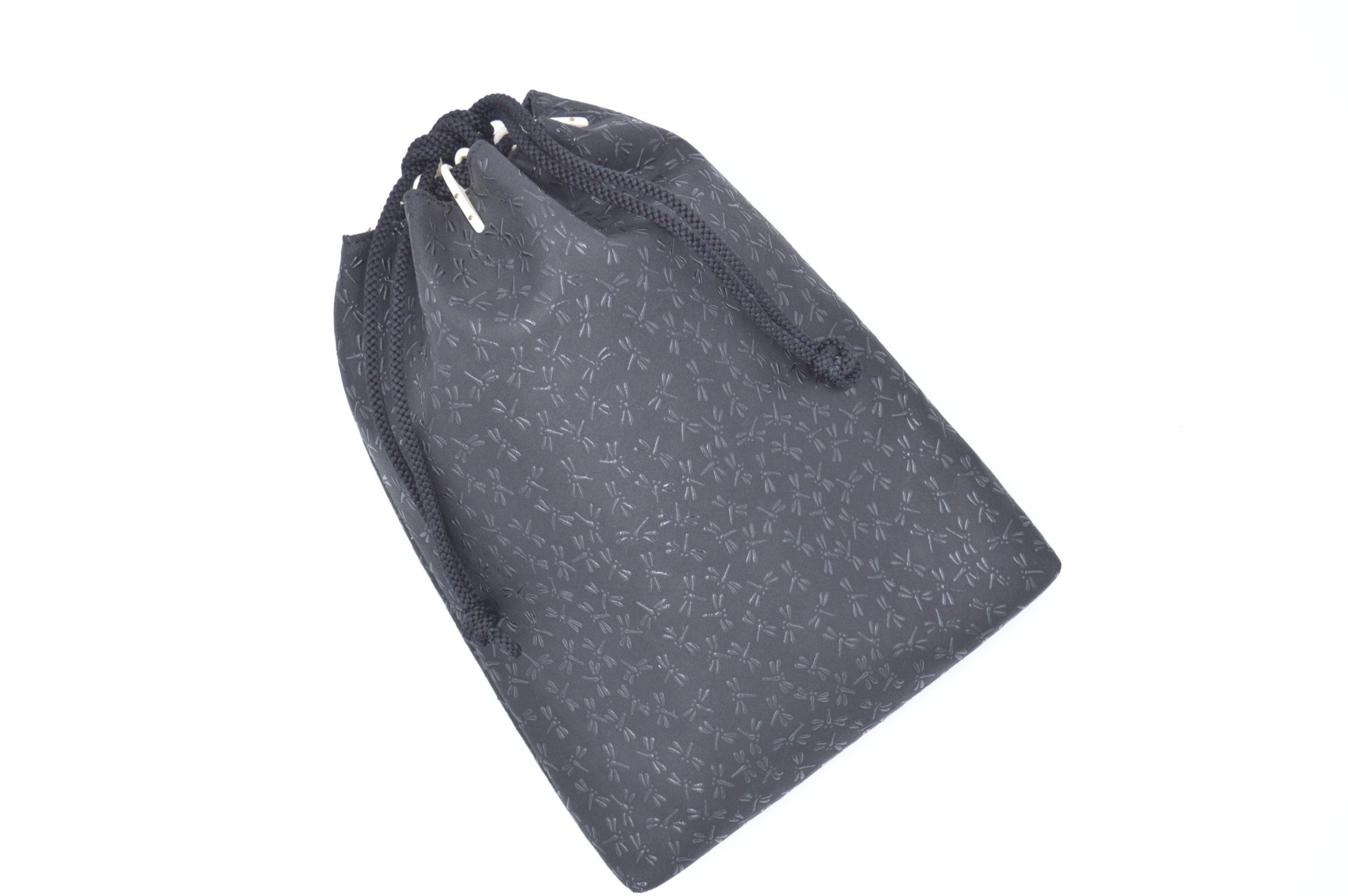 合財袋 黒/黒 トンボ柄